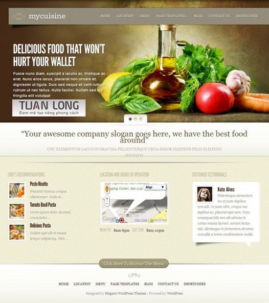 MyCuisine WordPress Themes