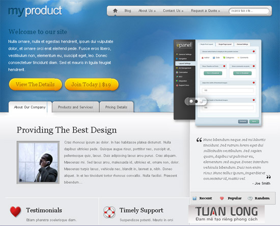 MyProduct Theme For WordPress