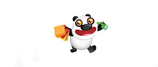 13-online-shop-panda-logo