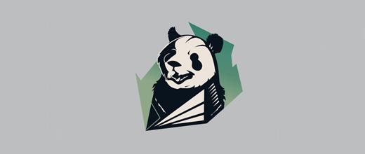 15-retro-panda-logo