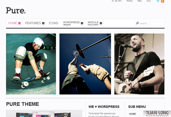 Pure – Yootheme WordPress Theme