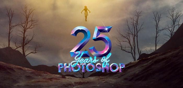 sinh nhat 25 nam photoshop 2