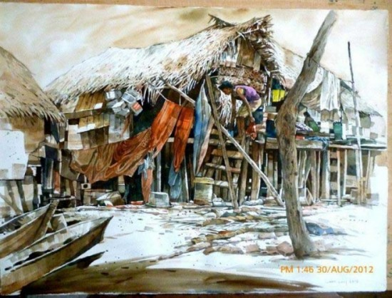 tranh mau nuoc Yong Look Lam (11)