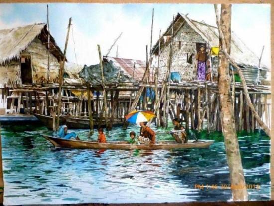 tranh mau nuoc Yong Look Lam (12)