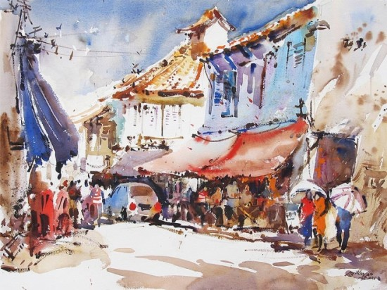 tranh mau nuoc Yong Look Lam (13)