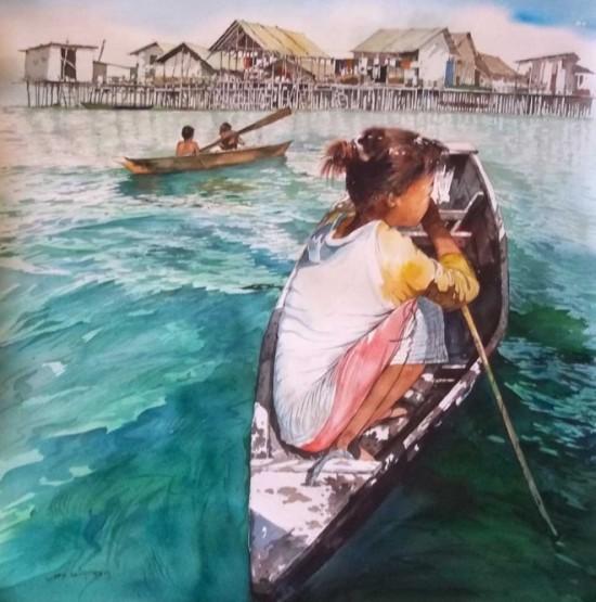 tranh mau nuoc Yong Look Lam