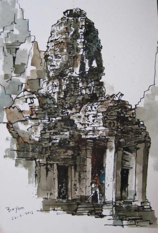tranh mau nuoc Yong Look Lam (8)