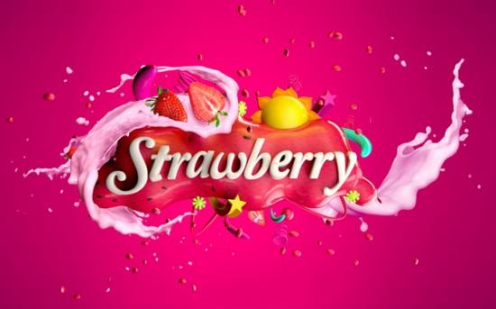 1-strawberry-milk-omar-aqil-typography-design