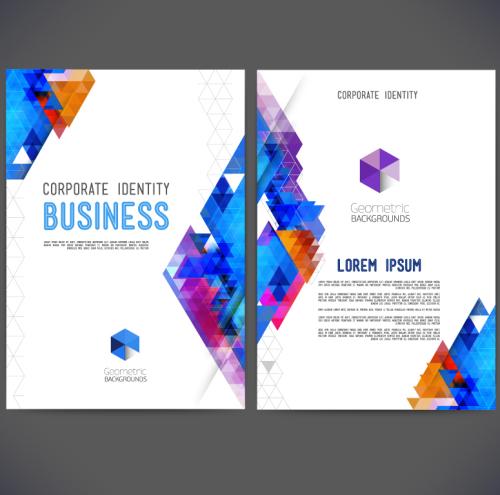 Catalogue Vector, xu hướng ô vuông nhiều màu sắc cho Doanh nghiệp