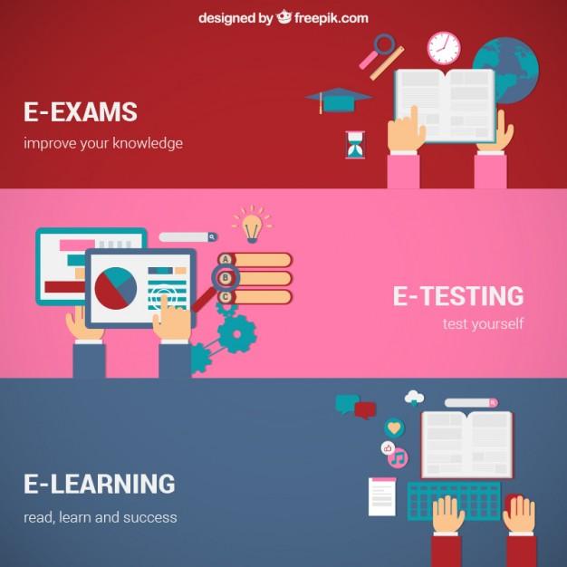 Vector khái niệm về giáo dục trực tuyến.