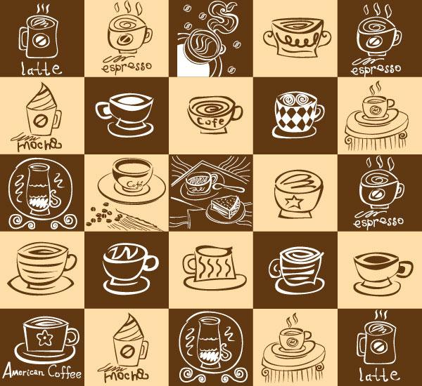 Vector  coffee đáng yêu, độc đáo