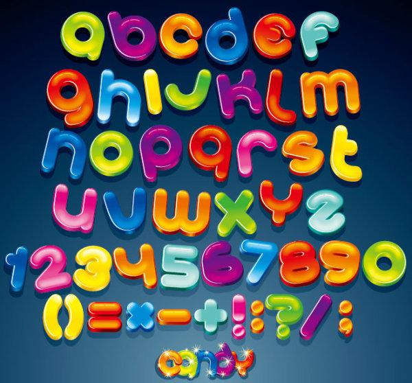 Vector thiết kế chữ cái bảng chữ sáng tạo.