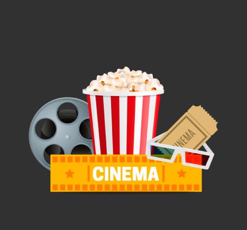 Cinema vector, Bộ tài liệu thiết kế vector rạp chiếu phim