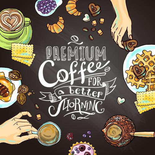 Coffee for vector, Bộ sưu tập Vector chủ đề cafe sáng