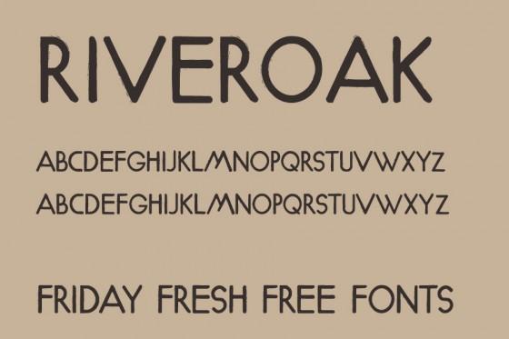riveroak font chu dep dowloand