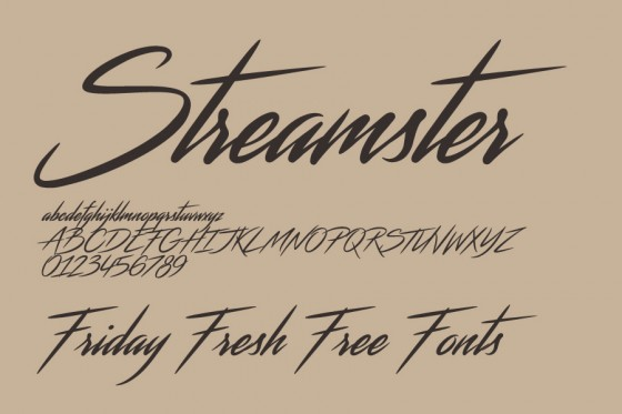 streamster font chu mien phi