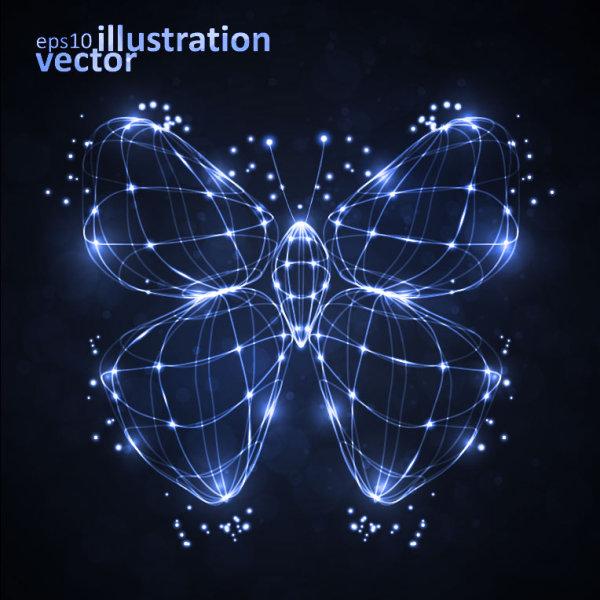 Vector mô hình chú bướm phát sáng