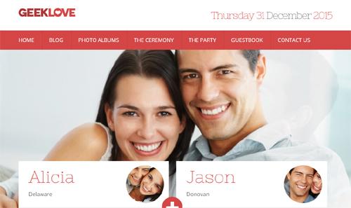 GeekLove Theme chủ đề Đám cưới, thanh lịch & phong phú.