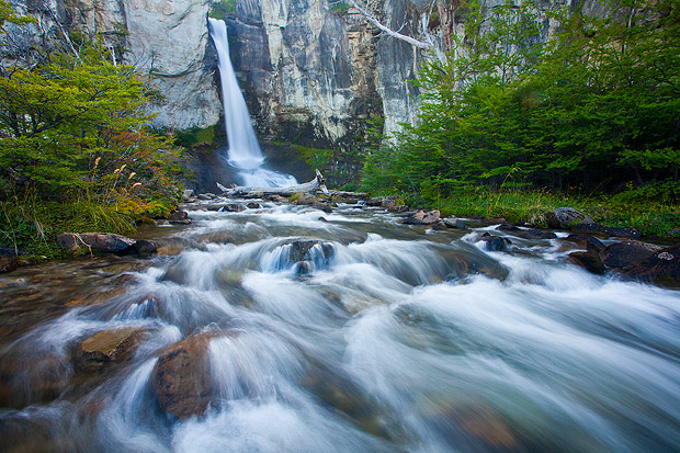 Chorillo de Salto waterfall, Los Glaciares National Park, Argentina