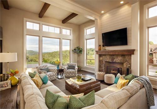 Khi thiết kế nội thất phòng khách, nên sử dụng những màu sắc dịu mát