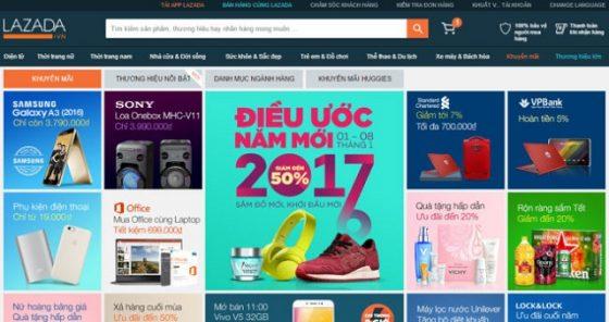 Tìm mã giảm giá bằng cách truy cập vào website mua sắm trực tuyến Lazada.vn