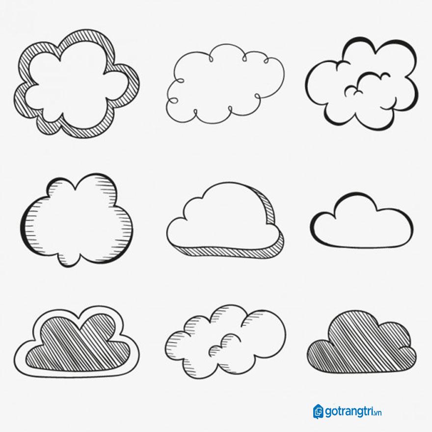 Đám mây vector 12
