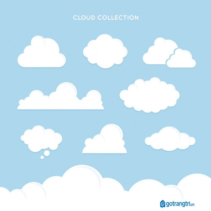 Đám mây vector 19
