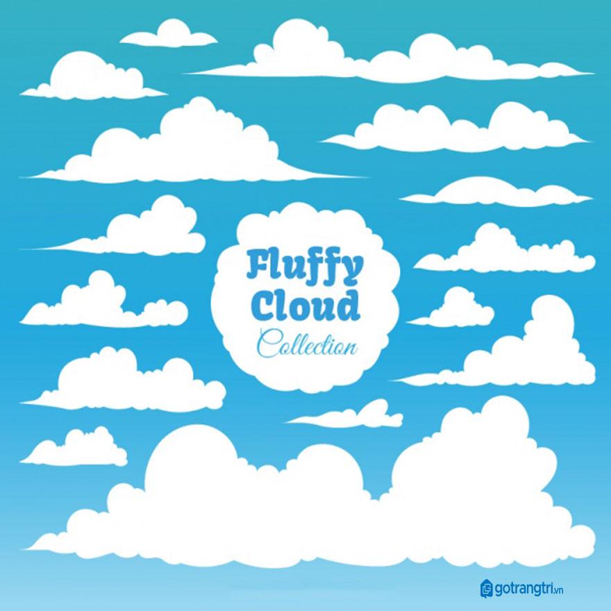 Đám mây vector 4