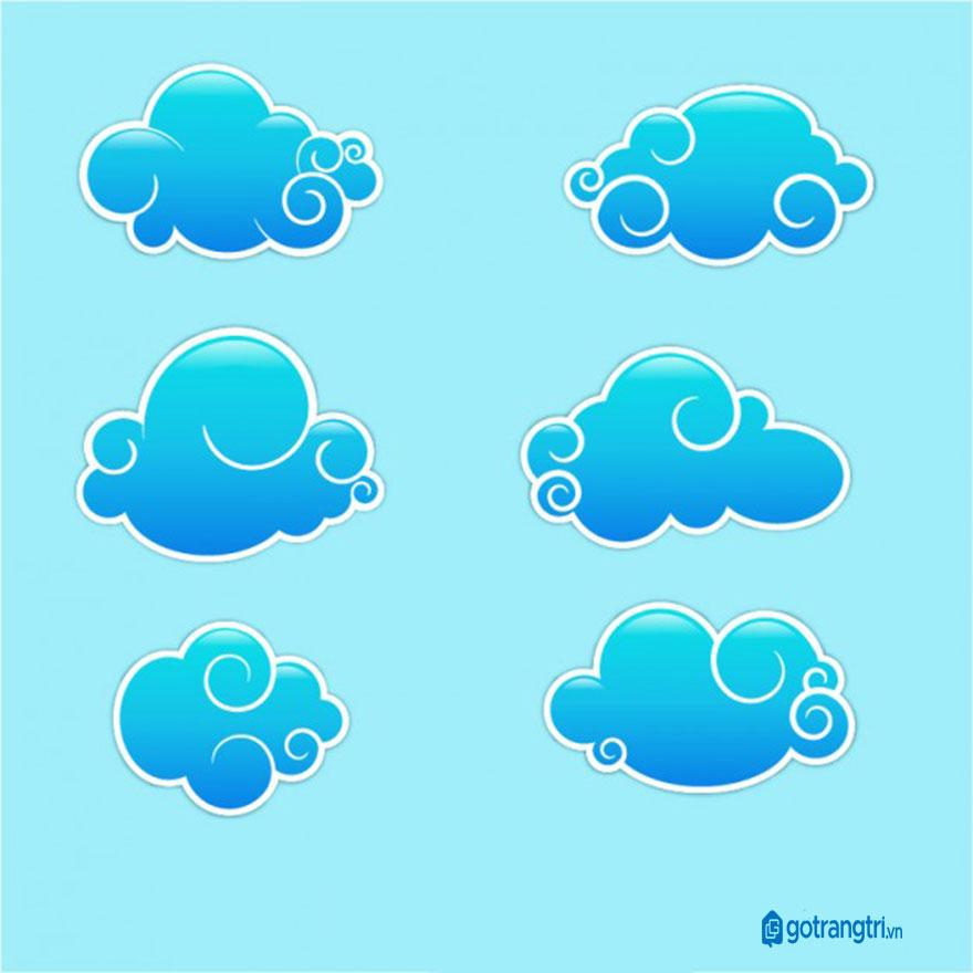 Đám mây vector 30