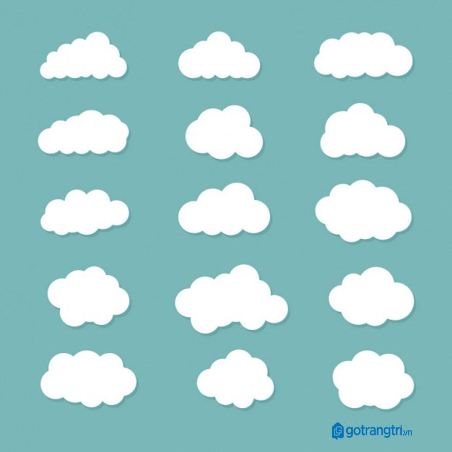 Đám mây vector 5