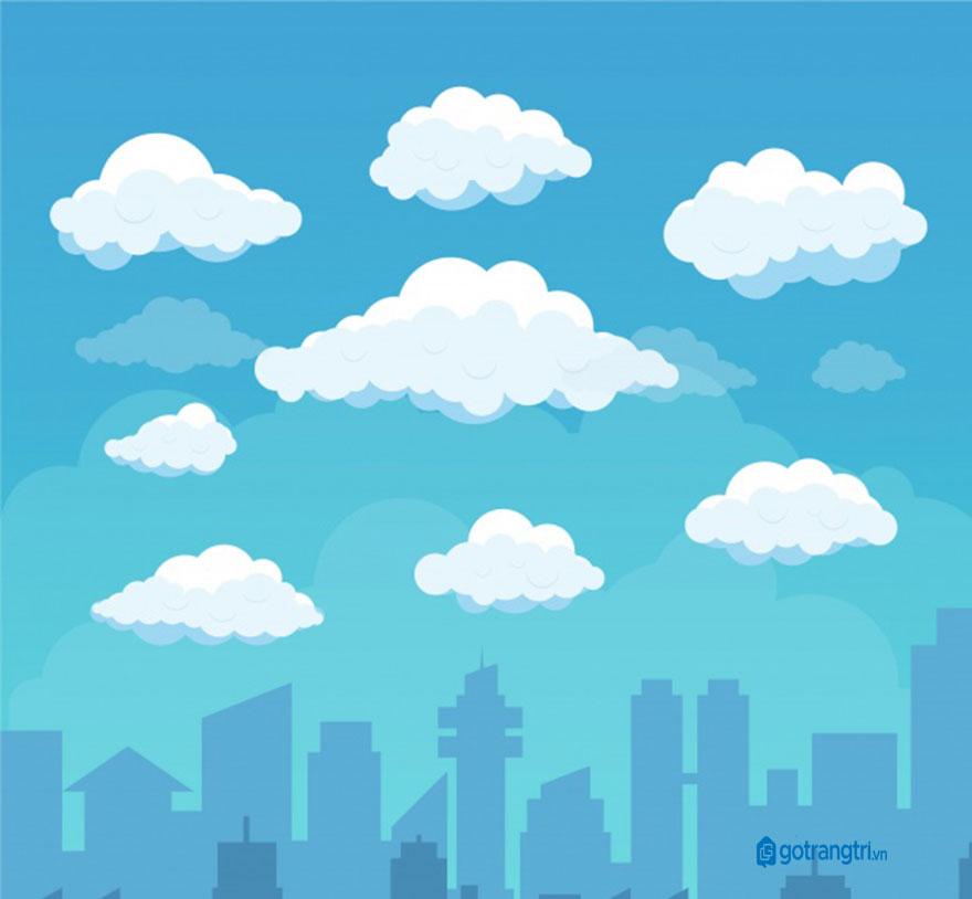 Đám mây vector 6