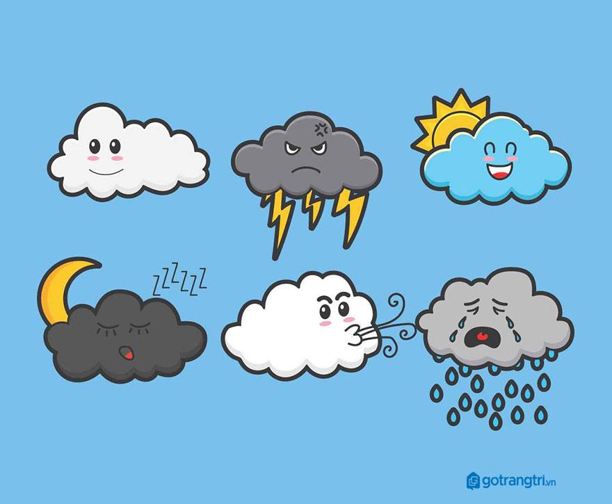Đám mây vector 57
