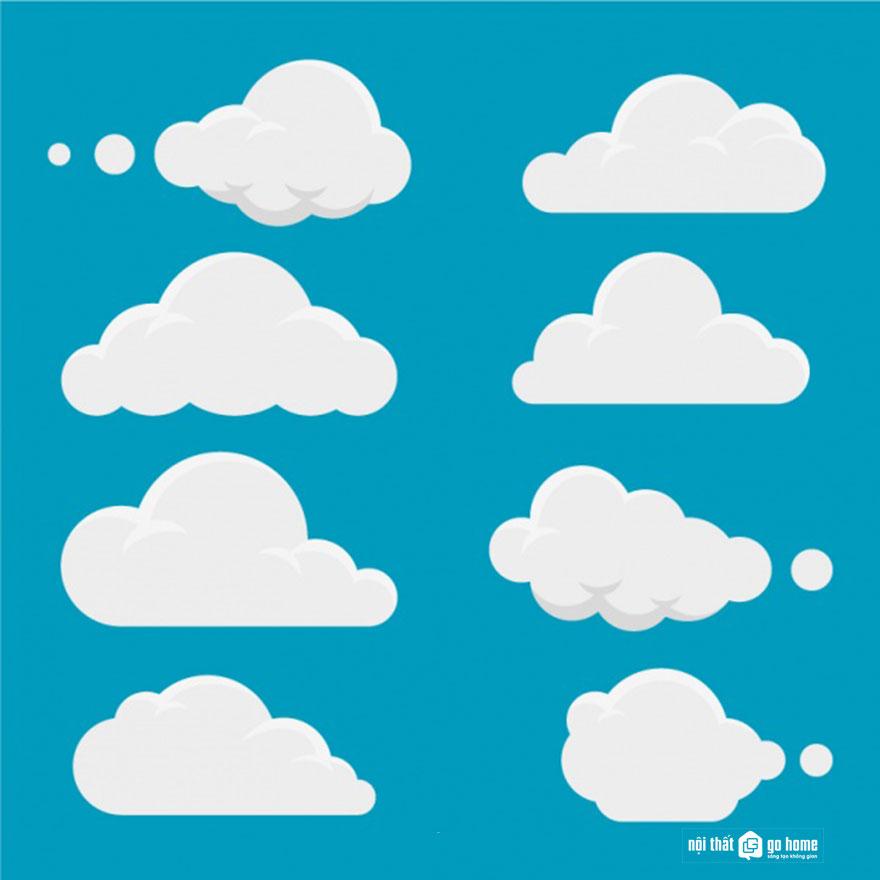 Đám mây vector 2