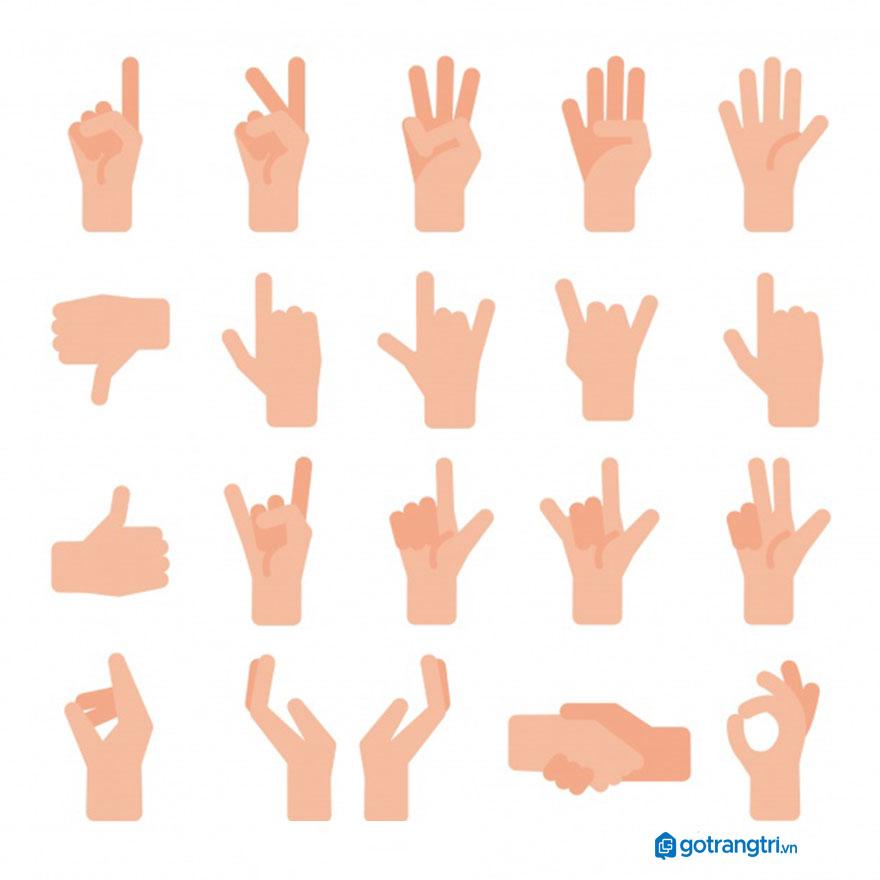 Mẫu bàn tay vector 11