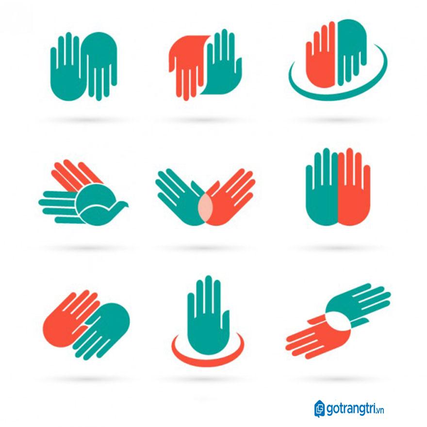 Mẫu bàn tay vector 16