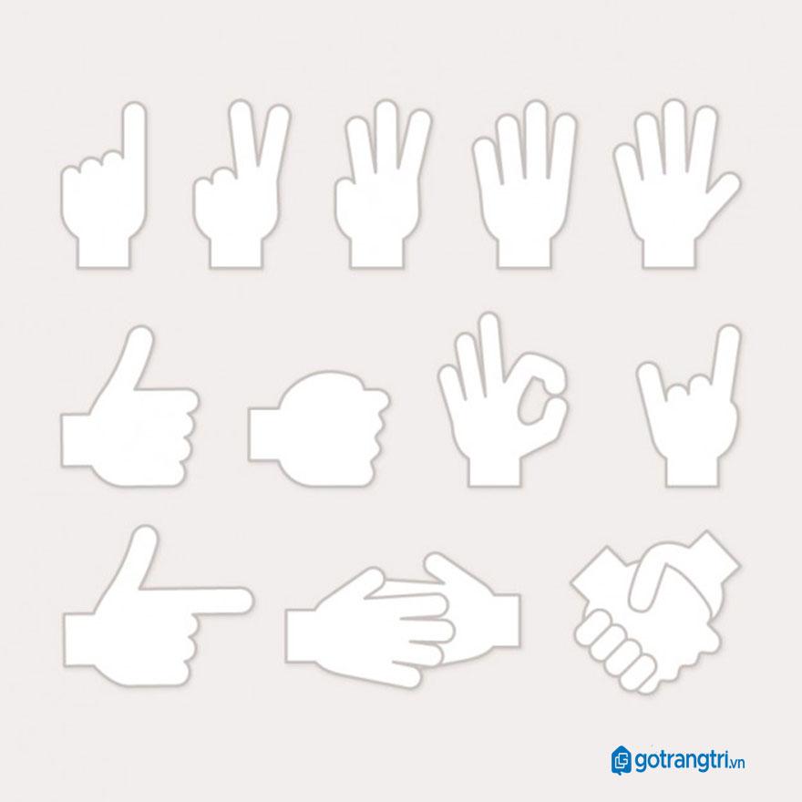 Mẫu bàn tay vector 18