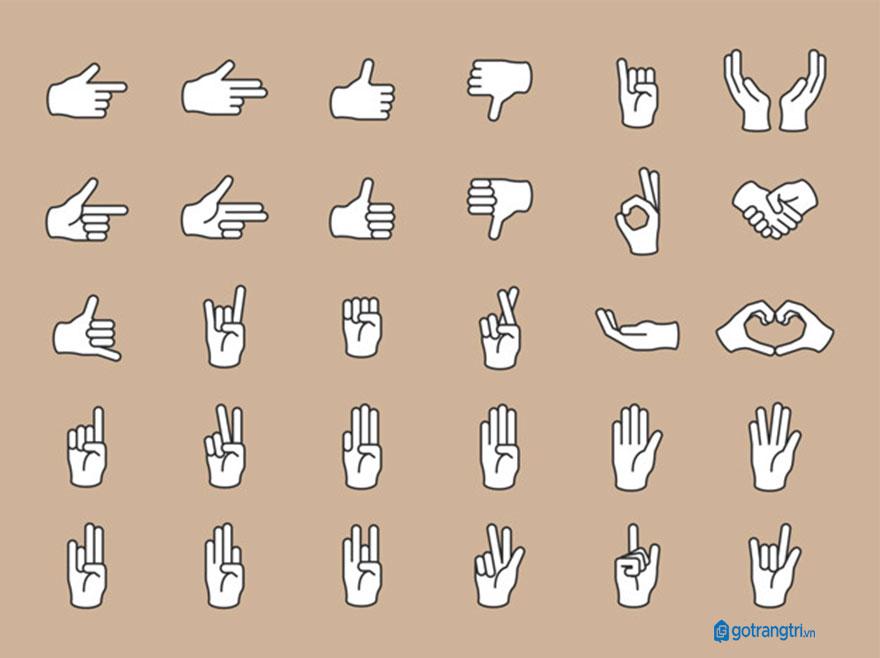 Mẫu bàn tay vector 19