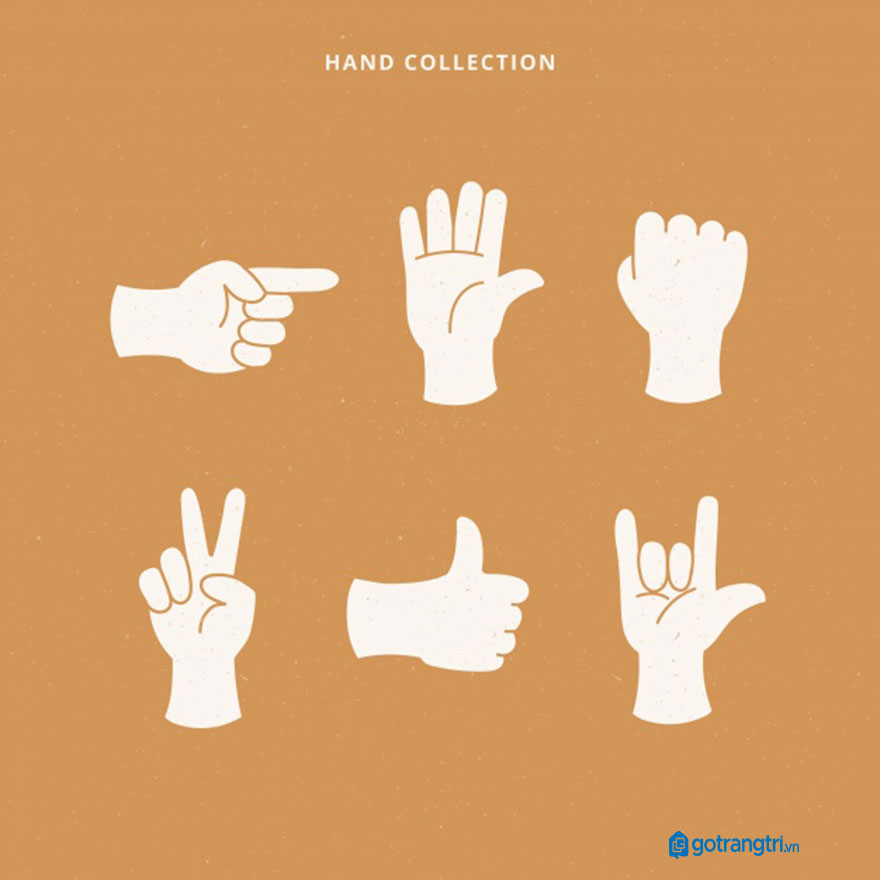 Mẫu bàn tay vector 20