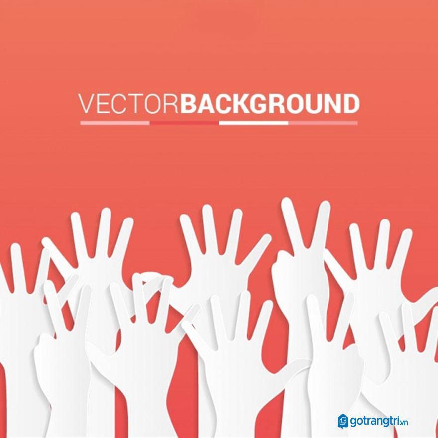 Mẫu bàn tay vector 27