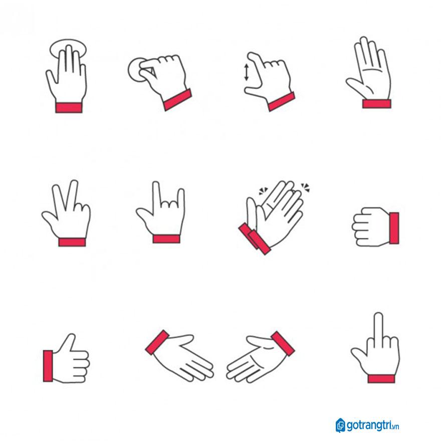 Mẫu bàn tay vector 29