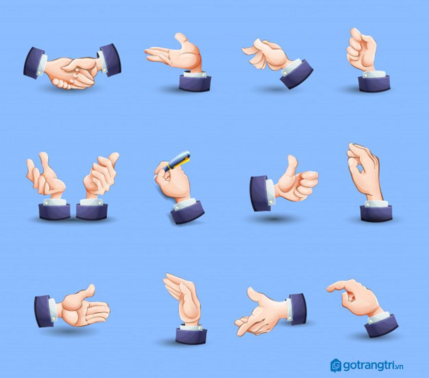 Mẫu bàn tay vector 31