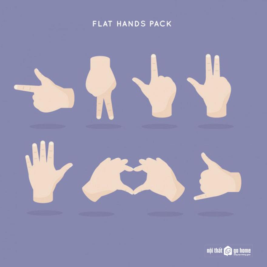 Mẫu bàn tay vector 32