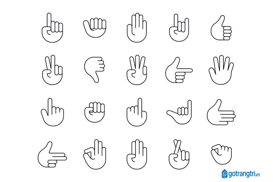 Mẫu bàn tay vector 35