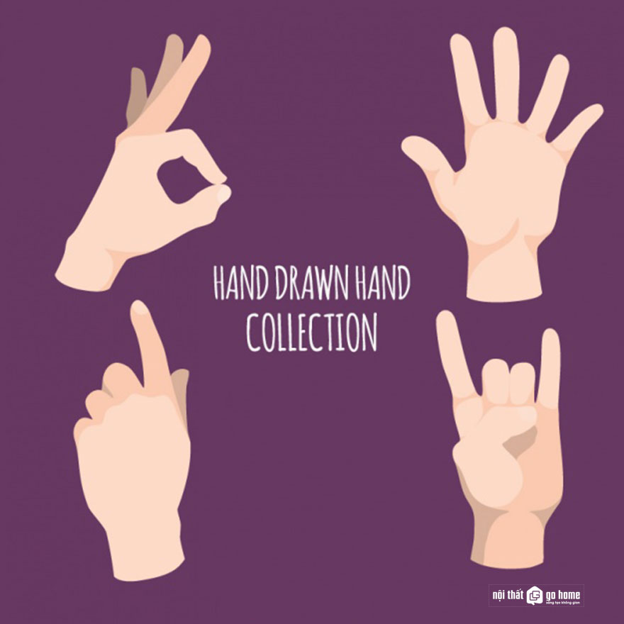 Mẫu bàn tay vector 8