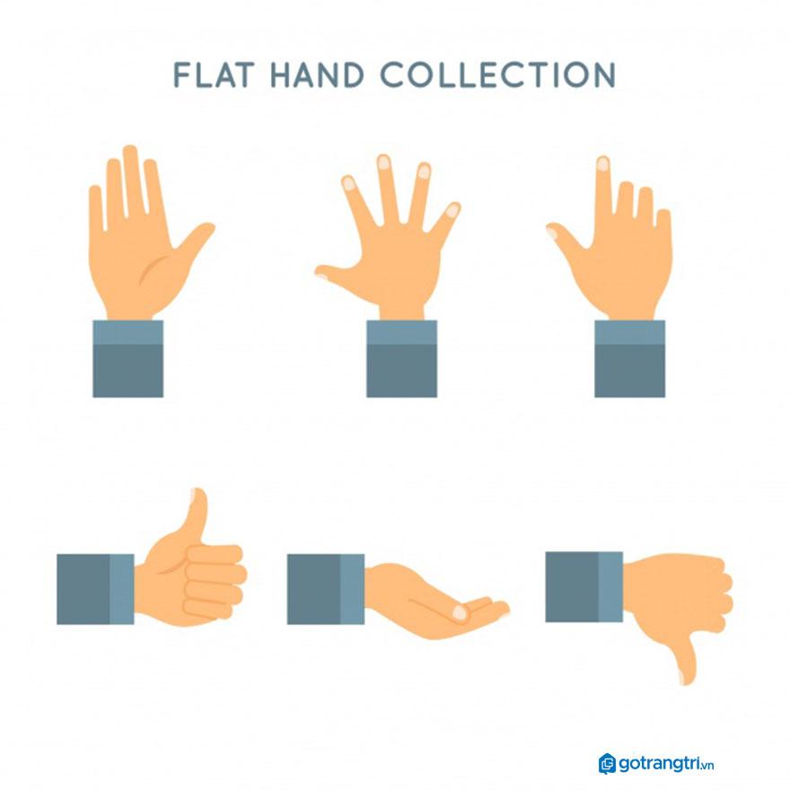 Mẫu bàn tay vector 9