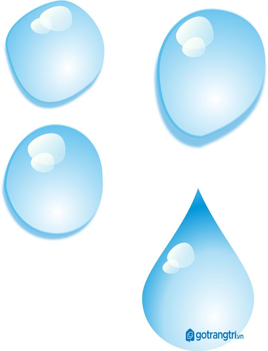 mẫu giọt nước vector đẹp 4