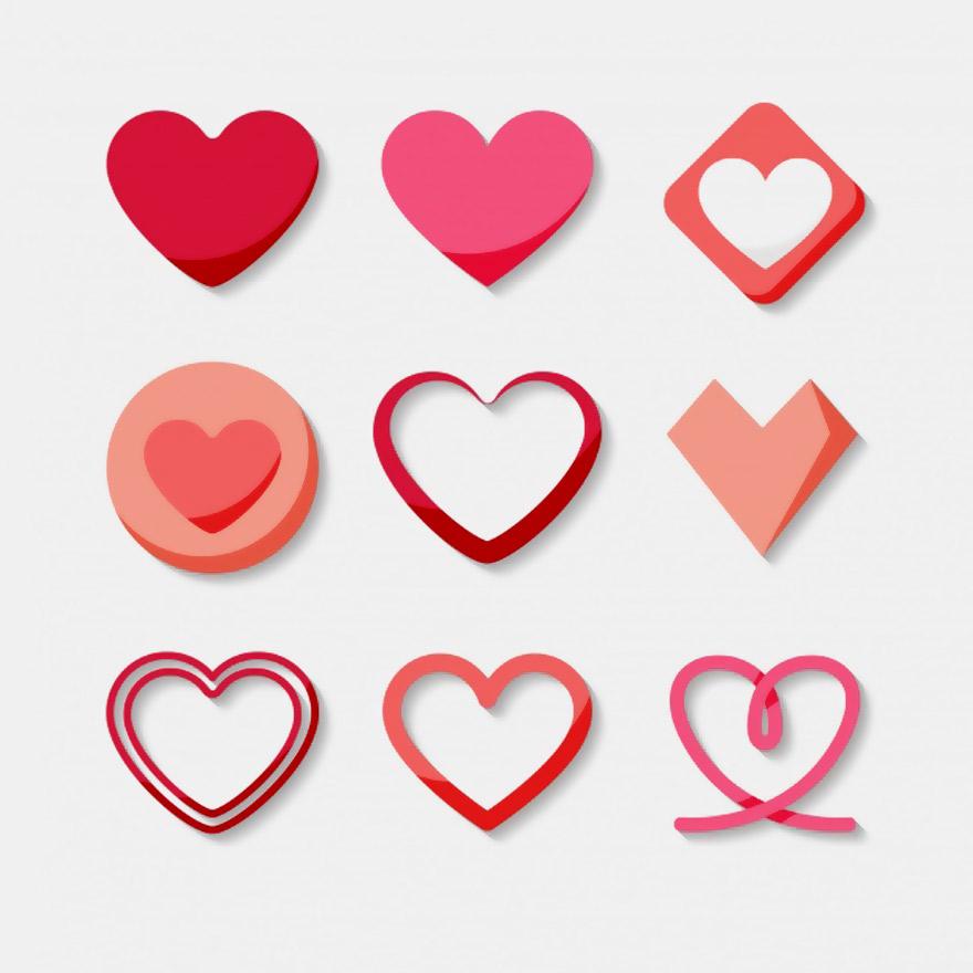 Vector trái tim miễn phí 2