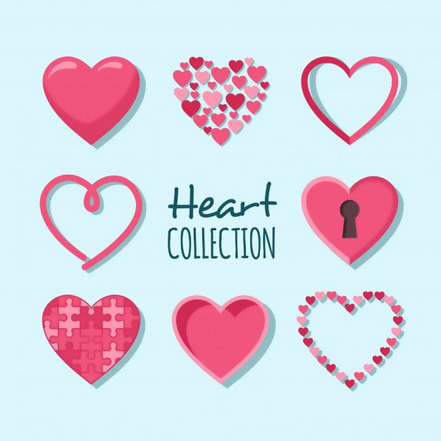 Vector trái tim miễn phí 10