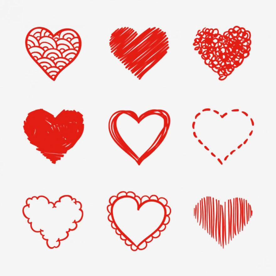 Vector trái tim miễn phí 11