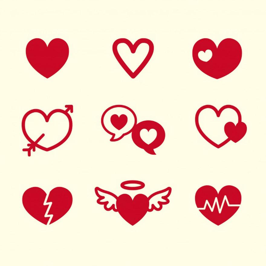 Vector trái tim miễn phí 16